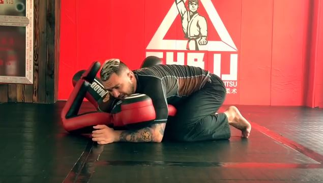 how to train with a grappling dummy.